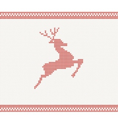 Christmas and Winter knitted pattern vector image vector image