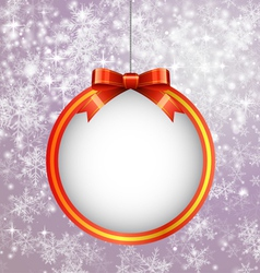 Christmas Ball with Bow vector image vector image