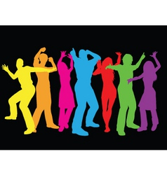 Colourful dancers vector