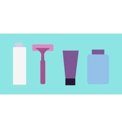 Elements for boys face wash shaving accessories vector
