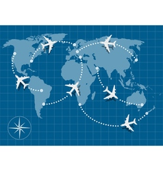 flight map vector image