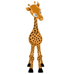 Funny Cartoon Giraffe vector image vector image