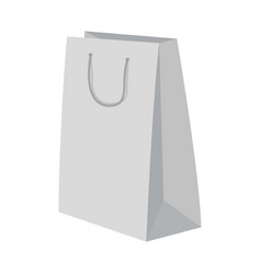 high paper bag mockup realistic style vector image