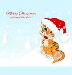 little tiger cub 1 vector image vector image