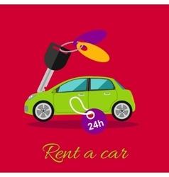 Rent a car vector