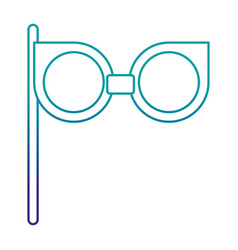 retro glasses isolated icon vector image