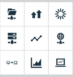 set of simple information vector image vector image