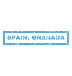 Spain Granada Rubber Stamp vector image