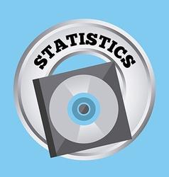 Statistics button vector