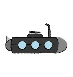 submarine icon image vector image