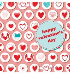 valentines day pattern vector image vector image
