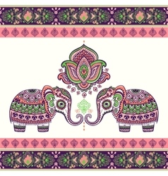 Vintage graphic indian lotus ethnic vector