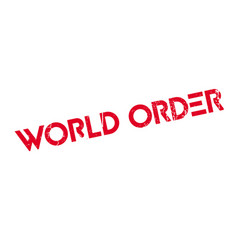 world order rubber stamp vector image vector image