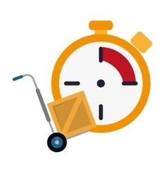 Chronometer and hand truck icon vector