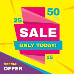 Sale banner special offer 50 off vector