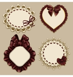 Set of elegant templates frame design vector