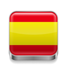 Metal icon of spain vector