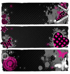 Emo banners vector