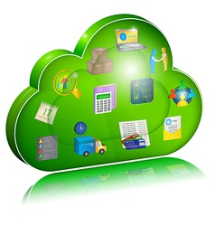 Digital enterprise management in cloud application vector
