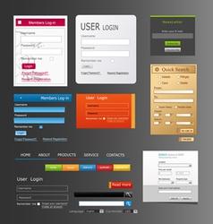 elements web design vector image