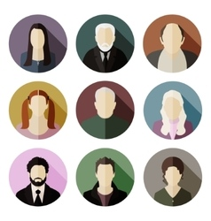 Flat characters vector