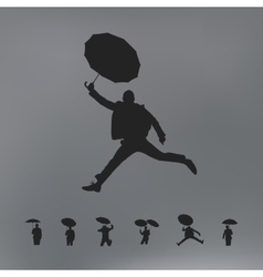 People with umbrella vector image