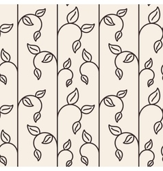 Sprout leaf lines seamless pattern vector