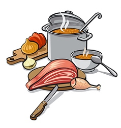 Cooking soup vector