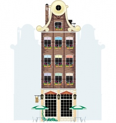 Holland house vector