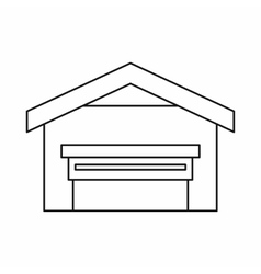 Garage with roof icon outline style vector