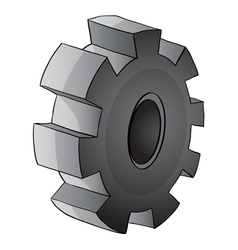 Gear piece vector image
