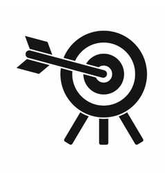 Arrow hit the target icon simple style vector