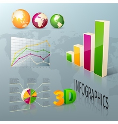 Abstract 3d business infographics design elements vector image