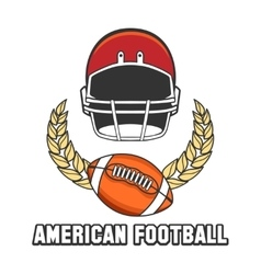 American football logo emblem vector