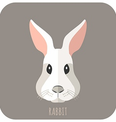 Animal Portrait With Flat Design Rabbit vector image