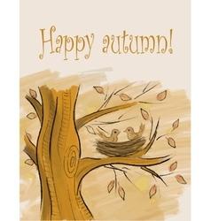autumn card vector image vector image