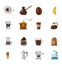 Barista Coffee Icon Set vector image