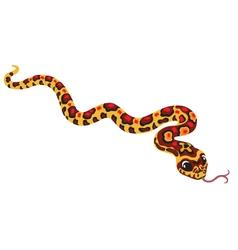 Cartoon corn snake vector