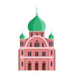 cathedral orthodox churche temple building vector image