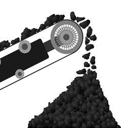 Conveyor belt with coal vector