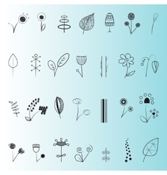 Floral decor set vector
