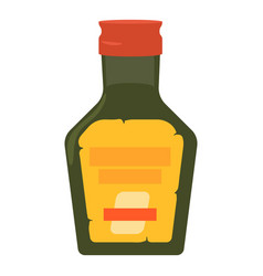 Green glass bottke of medicine syrup icon vector