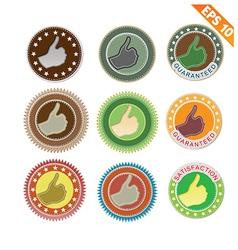 Label stitch sticker tag - - EPS10 vector image
