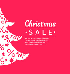 merry christmas sale background in minimalistic vector image