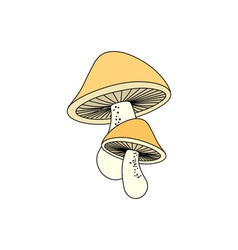 Mushrooms-in-color-380x400 vector image vector image