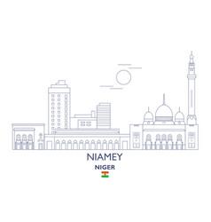 niamey city skyline vector image vector image