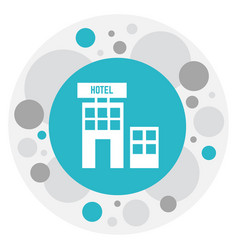of hotel symbol on townhouse vector image