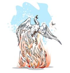 phoenix is a symbol of revival vector image