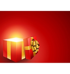 Red gift box background vector image vector image