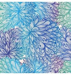 Seamless floral gradient doodle patte vector image